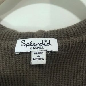 Splendid Tops - Splendid | Army Green Cross Front Sweatshirt